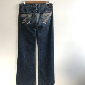 7 Seven for all Mankind Dojo Flare Jeans 29